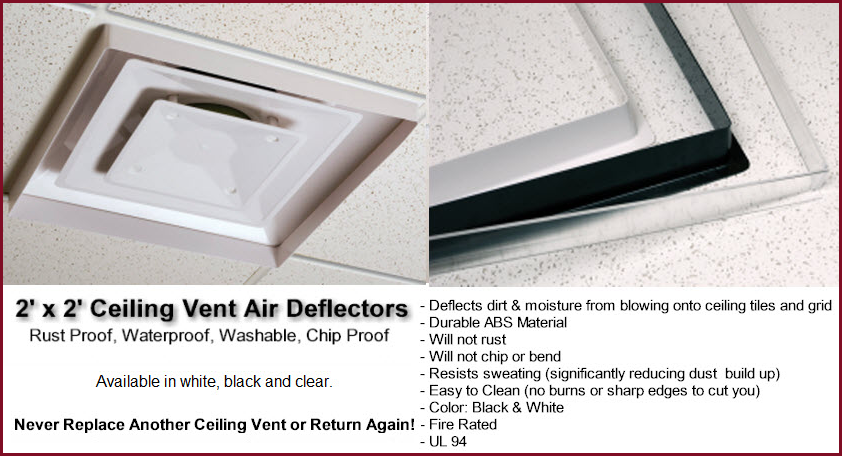 Lovely Ceiling Air Conditioning Vent Deflector Pranksenders