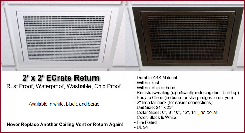 Grid Ceiling Return Air Grille : Ceiling ac vents
